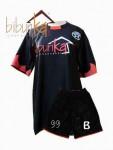 Kaos Futsal Bola Warna Hitam
